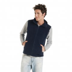 Bellagio Fleece Vest With Collar and Zipper