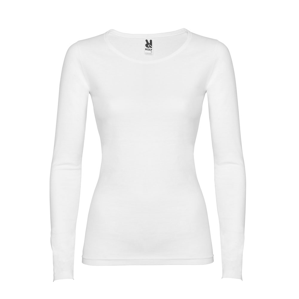 Extreme Semi Fitted Long Sleeve T Shirt Wholesale Woman